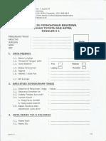 Formulir Permohonan Beasiswa YTA Reguler S1