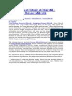 Cara Membuat Hotspot Di Mikrotik