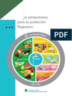 Guia Alimentaria Para La Población Argentina 2016. Plato Nutricional y Macronutrientes