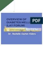 Diabetes Mellitus Overview Lay
