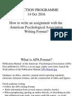 APA Writing Format