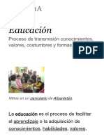 Educación - Wikipedia, la enciclopedia libre.pdf