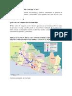 Guia Integradora Vias de Comunicacion de El Salvador