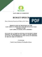 Eac Budget Speech Fy 2018-2019