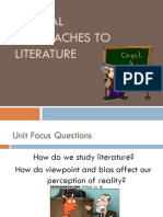 Critical Approaches - Literary Theory PowerPoint- ACAD WRITING