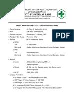Ep 1,2,3,Profil Kepegawaian Kepala Puskesmas Rami