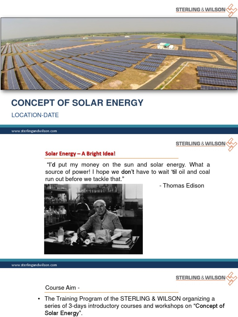 Solar Presentation | Photovoltaic System | Photovoltaics