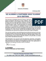 UZ Alumni Golf 2016 Edition Press Release 2