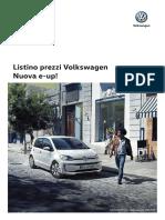 Listino Prezzi Volkswagen Nuova e Up
