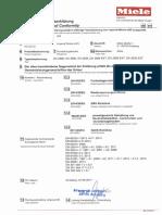 Miele DA 2660 Cooker Hood CE Conformity Declaration
