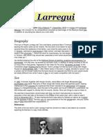 León Larregui Biografia Ingles