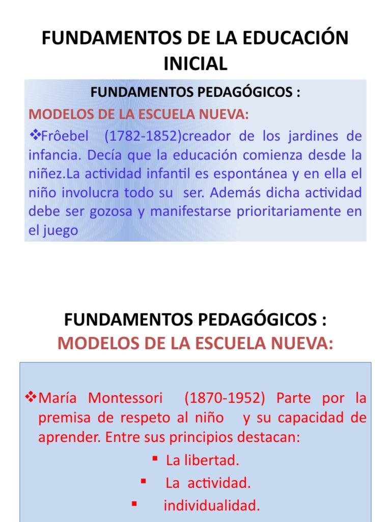 Diapositivas fundamentos de la educaci n inicial for Programa curricular de educacion inicial