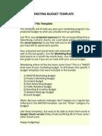 1) MASTER Marketing Budget Template