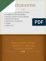 Pedagogía Como Ciencia y Arte de La Educación Id