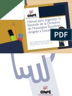 Manual Elecciones de Municipios Escolares Docentes