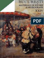 24 Bucuresti Materiale de Istorie Si Muzeografie XXIV 2010