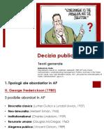 1. Notite de Curs - Decizia Publica, Teorii Generale