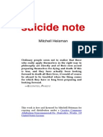 Mitchell Heisman - Suicide Note