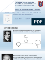 Preparación de N-óxido de 4-nitro-2-picolina