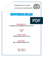 Sensibilidad Operatoria