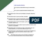 Los Diez Principios Del Recuerdo Efectivo