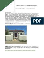 9 Elements of Spanish House