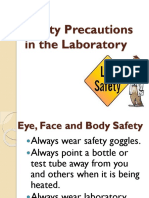 Safety Precautions in the Laboratory