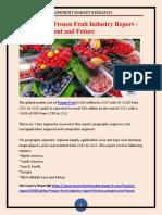 2018 Global Frozen Fruit Industry Report