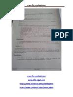 Examen de Fin de Formation Tsd 2014 Theorique