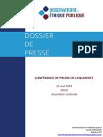 Dossier de Presse Observatoire
