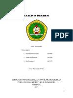 Kelompok 8 Analisis Regresi 2016 A