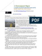 Pa Environment Digest September 27, 2010