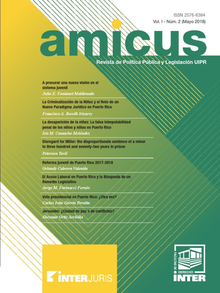 AMICUS - Vol I - Num 2 - Mayo 2018