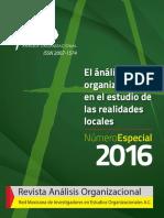 Numero Especial Análisis Organizacional 2016