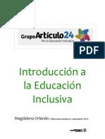 Clase revisada. Introducción a la Educación Inclusiva