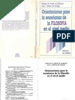 Adriana Arpini - Orientaciones Para La Enseñanza de La Filosofia en El Nivel Medio PDF