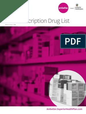 Ambetter Rx List   Prescription Drugs   Food And Drug