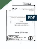 Identificación de La Dosis Letal Media (DL50) de Amonio y Nitrito en Alevinos de Paiche (Arapaima Gigas)