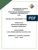 Modulo Educacion Ambiental 2017-2018