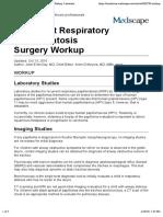 Recurrent Respiratory Papillomatosis Surgery Workup