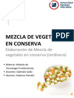 TP Conserva de Mezcla de Vegetales (Jardinera)