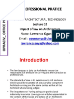 Lecture 02 Impact of Law on Architecture