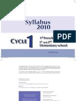 Syllabus Cycle 1