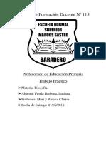 Filosofía. Instituto de Formación Docente Nº 115
