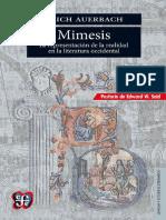 Mimesis. La Representación de La Realidad en La Literatura Occidental - Erich Auerbach