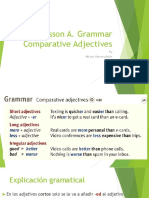 Lesson a Thursday Grammar. Comparative Adjectives