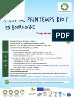 Programme du Printemps Bio 2018 en Bourgogne