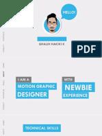 Motion Graphic CV Ghalih Hakiki Kavisa