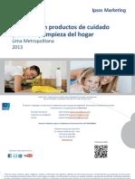 Estudio IPSOS - Liderazgo de productos de cuidado personal y limpieza del hogar 2013