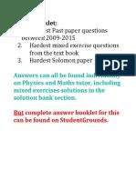 Edexcel C1 Hardest Questions